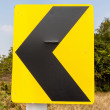 Road Signs warn Drivers for Ahead Dangerous Curve — Stock Photo #41289279