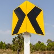 Road Signs warn Drivers for Ahead Dangerous Curve — Stock Photo #41289707