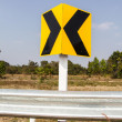 Road Signs warn Drivers for Ahead Dangerous Curve — Stock Photo #41289961