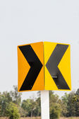 Curve road sign — Stock Photo