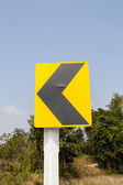 Road Signs warn Drivers for Ahead Dangerous Curve — Stock Photo