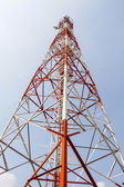 Mobile tower communication antennas — Stock Photo