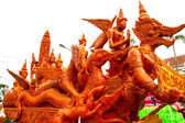 Candle festival Ubonratchathani, Thailand — Stock Photo
