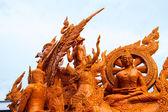 Candle festival Ubonratchathani — Stock Photo