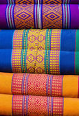 Colorful close up pillow design in Thai style. — Stock Photo