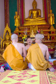 Clergy Conference in the newly Buddhist ordination ceremony — Stockfoto