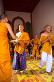 Newly Thai monk in thai temple — Стоковое фото