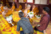 Newly Thai monk in thai temple — Foto Stock