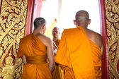 Clergy Conference in the newly Buddhist ordination ceremony — Stock Photo