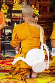 Newly Thai monk in thai temple — Stock Photo