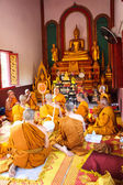 Newly Buddhist ordination ceremony — Photo