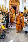 Newly Buddhist ordination ceremony — Stock Photo