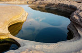 Stone at Sam-Pan-Bok Grand Canyon, Amazing of rock in Mekong river — Stock Photo
