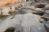 Stone at Sam-Pan-Bok Grand Canyon, Amazing of rock in Mekong river — Stockfoto