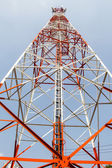 Telecommunication mast with microwave link — ストック写真