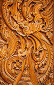 Wood carving of temple — Stock Photo