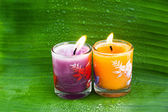 Candle for thai spa — Stock Photo
