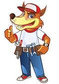 Handyman Wolf — Stock Vector