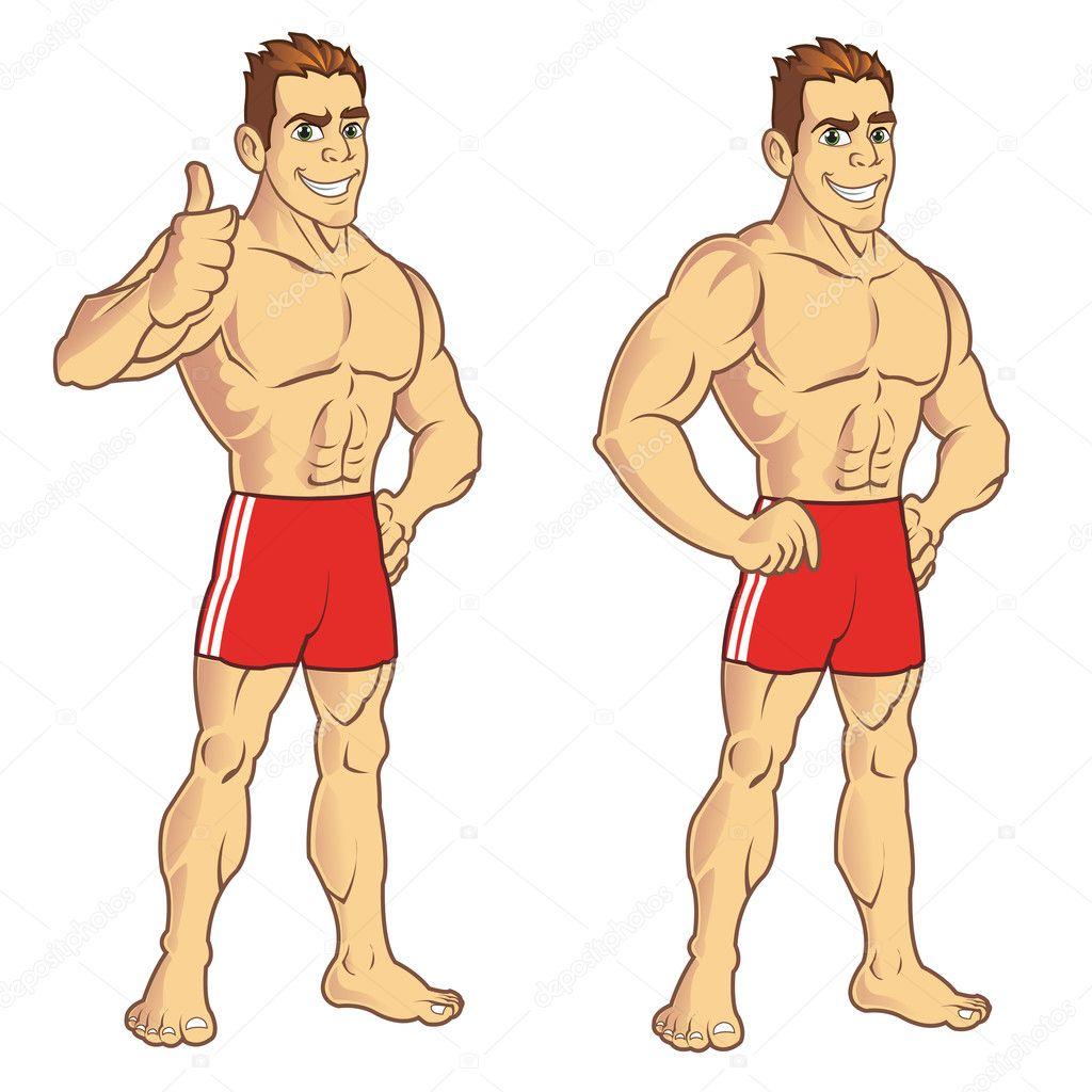 Рисовать мускулистого мужчину