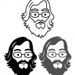 Geek Head — Vector de stock #38835697