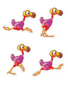 Běžící dodo sprite — Stock vektor