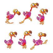 Jumping Dodo Sprite — Stock Vector