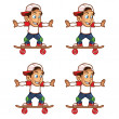 Постер, плакат: Skater Boy Rolling Animation Sprite