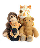 Group of teddy toys — Stockfoto