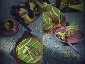 Mousse of pistachio — Stock Photo