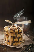 Closeup of peanut cookies — Stock Photo