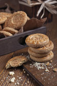 Closeup of biscuits stack — Stock Photo