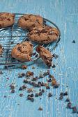 Biscuit cassé avec gouttes de chok — Photo