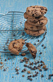 Lot of biscuits with chocolate drops — ストック写真