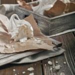 Broken meringue — Stock Photo