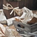 White broken meringue — Stock Photo