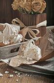 Closeup of broken meringue — Stock Photo
