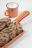 Closeup of chocolate biscuits — Stock Photo