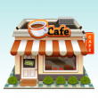 Cafe icon - Stock Vector