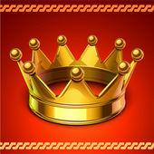 黄金の王冠 — ストックベクタ