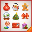Christmas icon set — Stock Vector #18463115