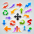 Arrow stickers - Imagen vectorial