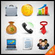 Stock Vector: Business icons - set