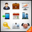 Business icons - set — Vector de stock #18462787