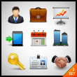Business icons - set — Imagen vectorial