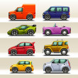 Car icon set - Stock Vector