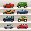 Car icon set — Vektorgrafik