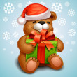Royalty-Free Stock Vector Image: Christmas teddy bear