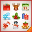 Christmas icon set — Stock Vector #18463177