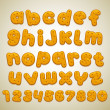 Stock Vector: Cookies font