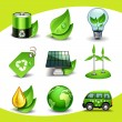 Ecology icons — Vector de stock #18463583